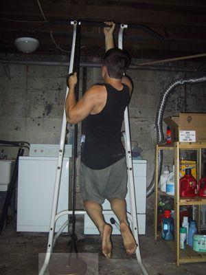 Подтягивание с помощью веревки