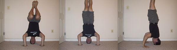 Обучение: стойка на голове