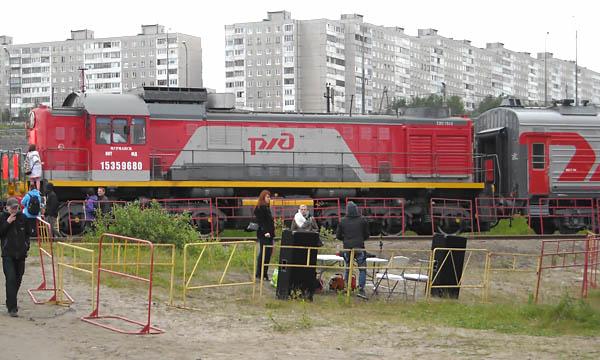 Мурманская миля 2015: Локомотив весом в 185 тонн