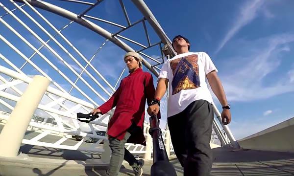 Трейсеры Абуди Алсагофф (Abudi Alsagoff) и Абир Кот (Abir Kot) команда «Alpha Parkour Movement» (Малайзия)