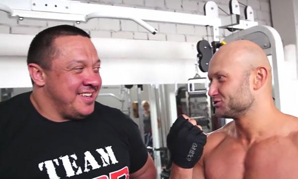 Михаил Кокляев и Юрий Спасокукоцкий обсуждают методику эффективной накачки мышц